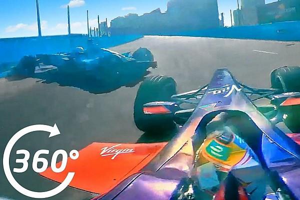 Formula E Video: Así fue el accidente de Nelsinho con la cámara 360°