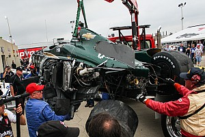 IndyCar Artículo especial Las mejores historias de 2015; #7: Carros voladores y Hinchcliffe miente