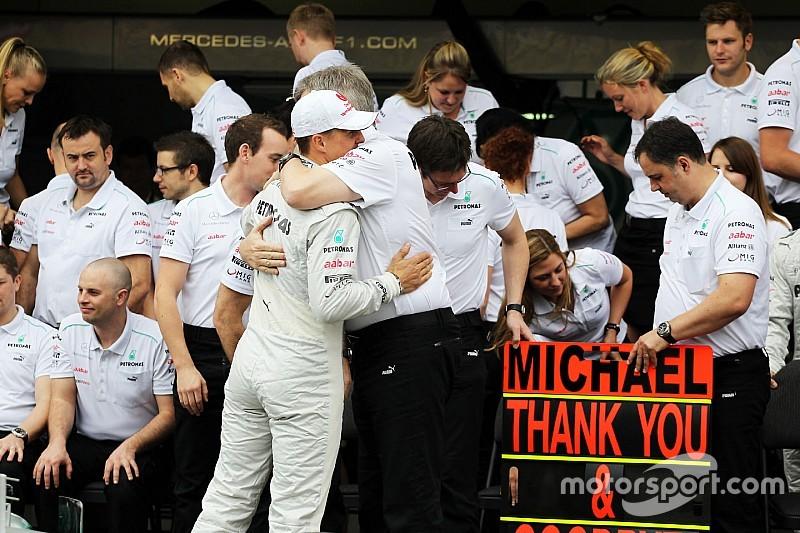 Brawn: Schumacher foi fundamental para sucesso da Mercedes
