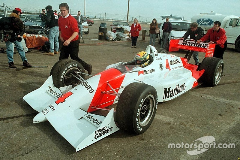 """两个世界的""""碰撞"""":23年前,塞纳曾到北美测试潘世奇车队印地赛车"""