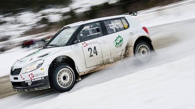Kristofferson al Rally di Svezia con una Fabia S2000
