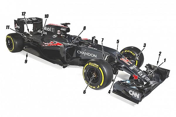 Analisi McLaren MP4-31: occhio alla sospensione anteriore!