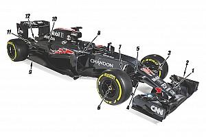 Formula 1 Ultime notizie Analisi McLaren MP4-31: occhio alla sospensione anteriore!
