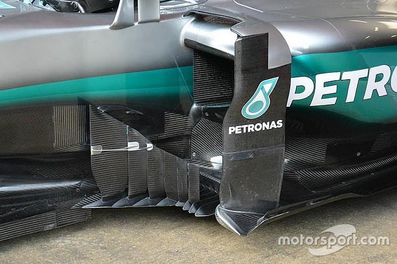 La Mercedes scompone il deviatore di flusso in sei parti!