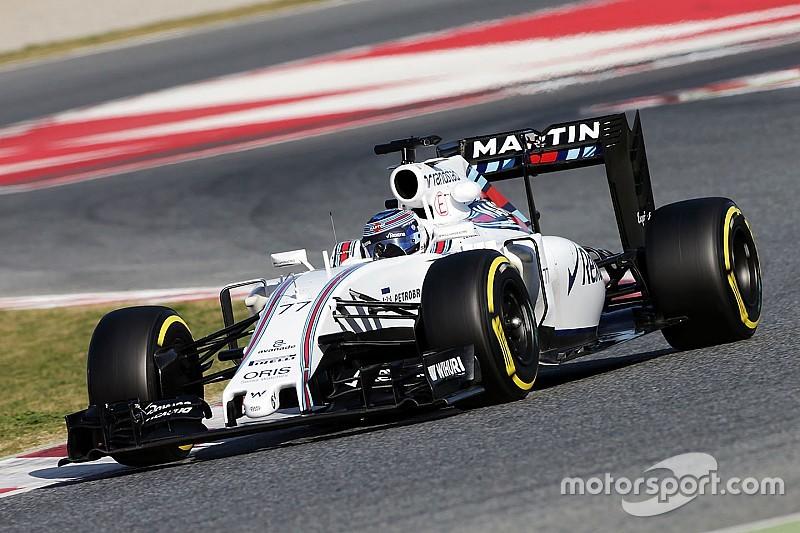 F1第二轮巴塞罗那测试第二天:威廉姆斯的博塔斯最快,哈斯车队遭殃