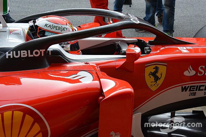 Kimi Räikkönen testet geschlossenes Cockpit an einem Formel-1-Auto