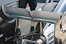 La Mercedes promuove l'ala posteriore con la seghettatura