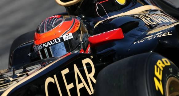 Grosjean ikinci günün sabahında Lotus'u ilk sıraya taşıdı