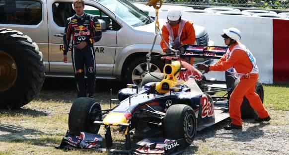 Vettel: Kaza bir uyarı sinyaliydi