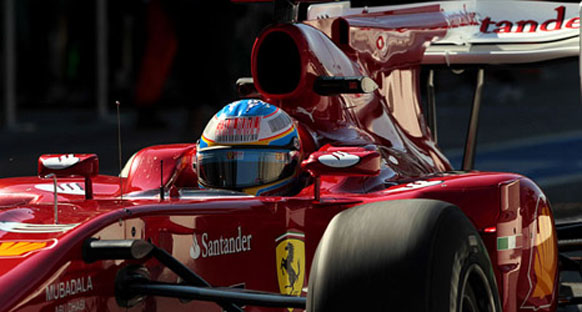 2010 İtalya Grand Prix Start görüntüleri