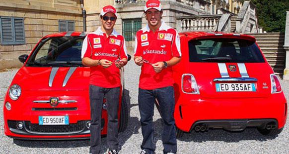 Alonso ve Massa Ferrari'lerini aldı