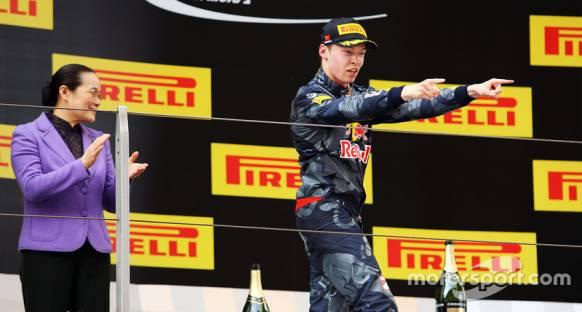 Çin'de Günün Pilotu ödülü Daniil Kvyat'ın