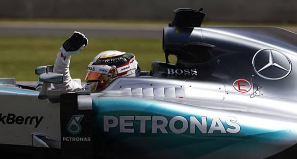 Britanya GP: Hamilton'dan yağmurla gelen zafer