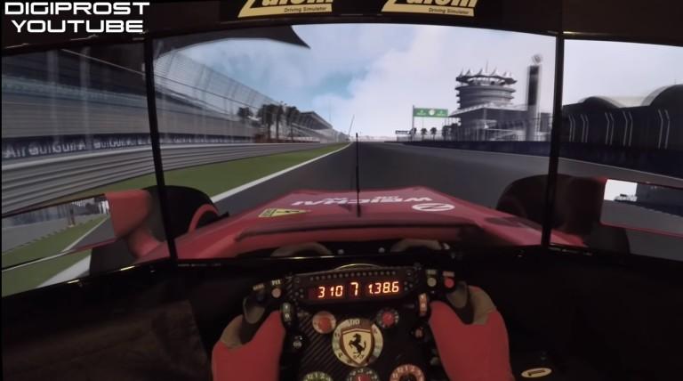 Egy virtuális kör Bahreinben, méghozzá egy menő F1-es szimulátorral