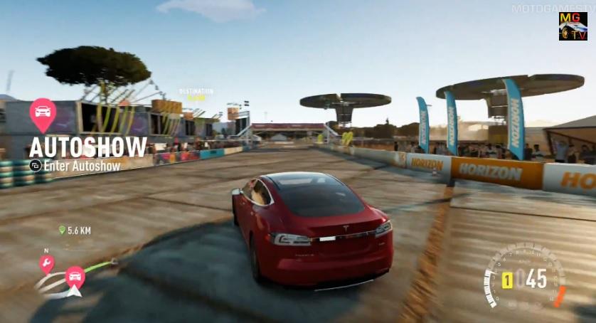 """Forza Horizon 2: Tesla Model S elektromos """"orgia"""" a játékban"""