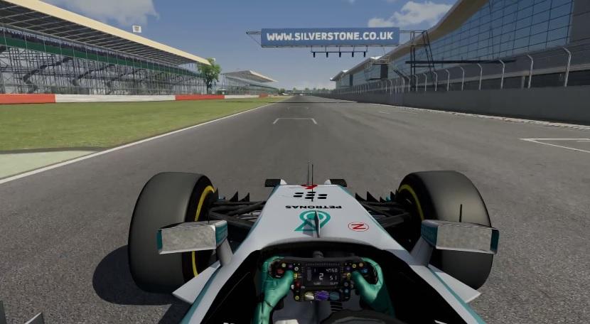 F1 2014 Assetto Corsa: Startgyakorlat Hamilton és Rosberg Mercedesével