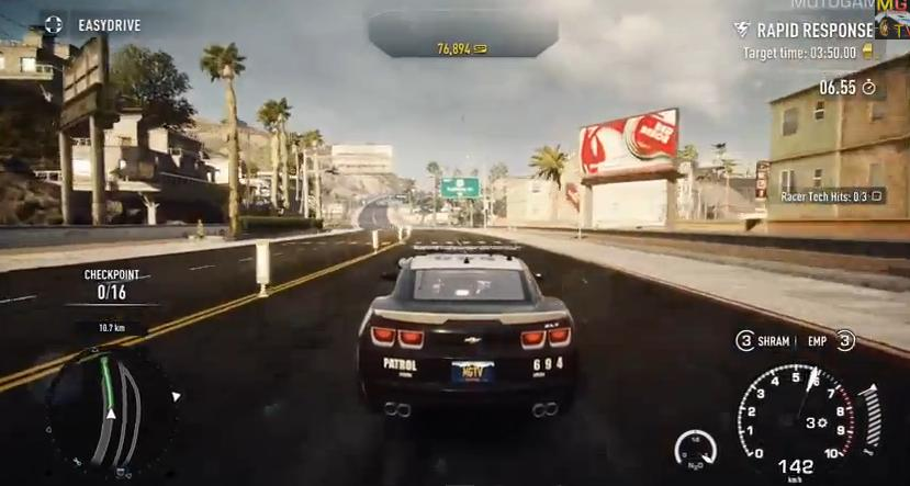 Need for Speed: Rivals - Chevrolet Camaro ZL1 rendőrautó