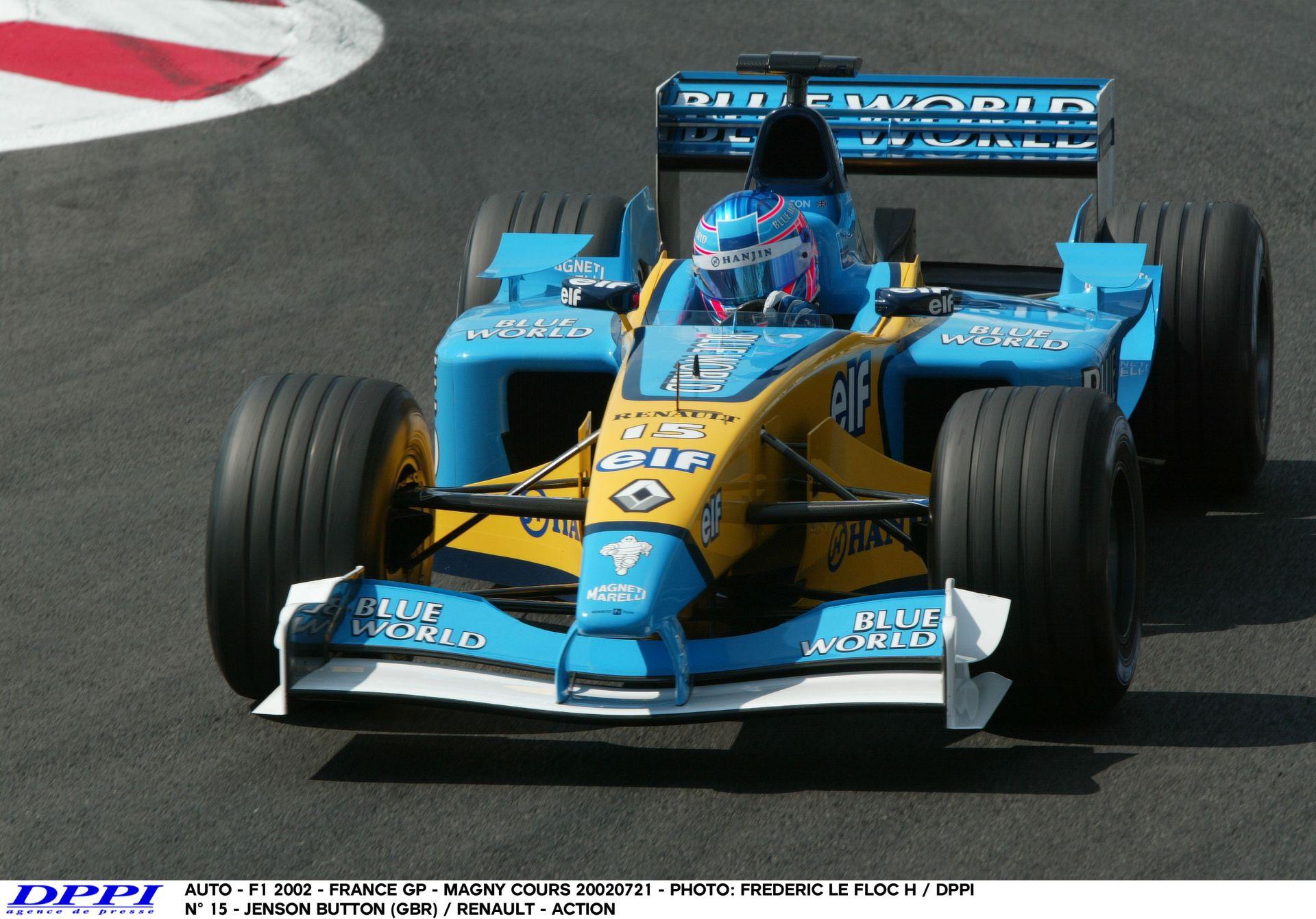 Amikor Button még a Renault-nak vezetett: 2002, Magny-Cours