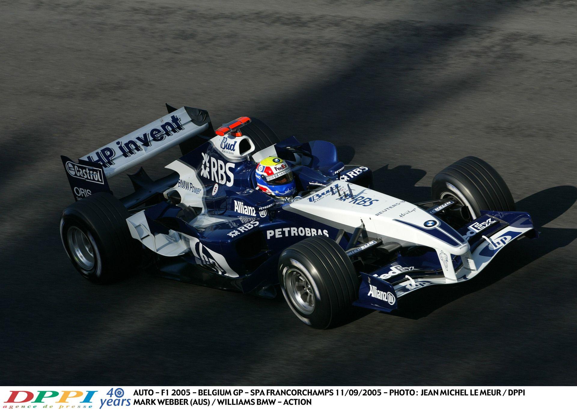 Webber és a brutálisan hangos V10-es Williams-BMW Spa-ban: Vissza, vissza, vissza!
