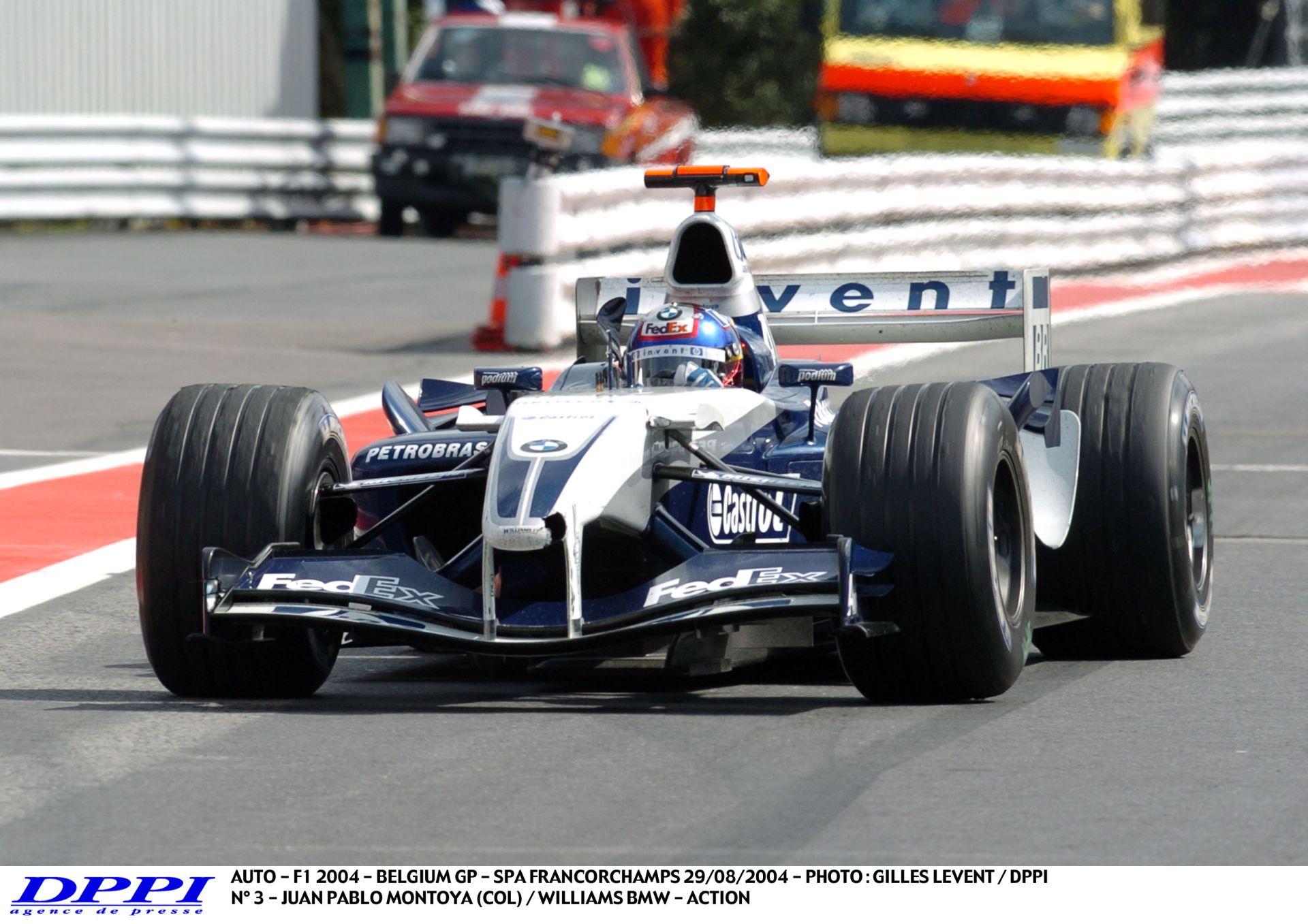 Amikor még valóban vezetni kellett egy F1-es autót: Montoya, William-BMW, Spa - 2004