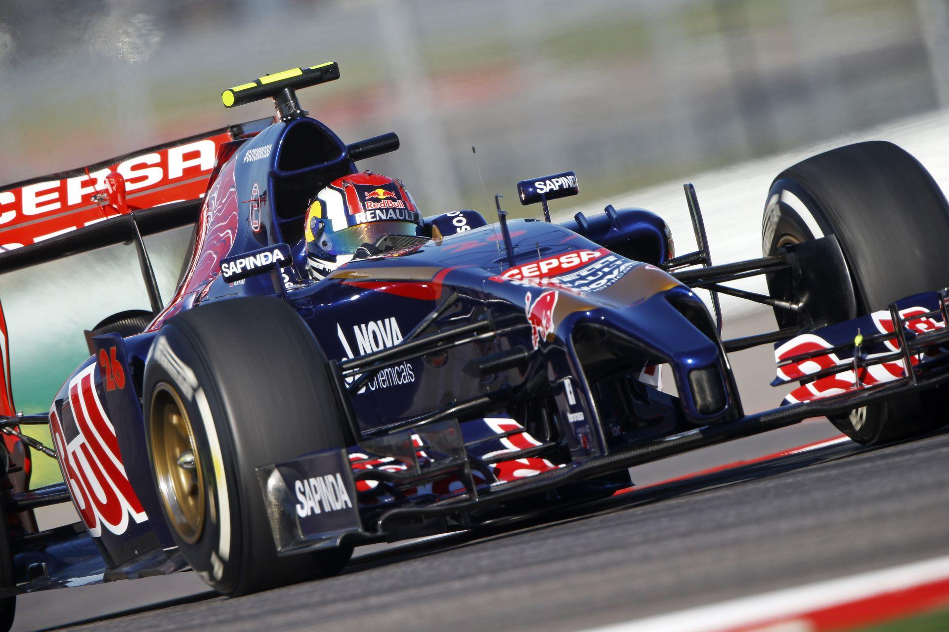 Röviden: 10 helyes rajtbüntetés kap Daniil Kvyat, a Toro Rosso versenyzője