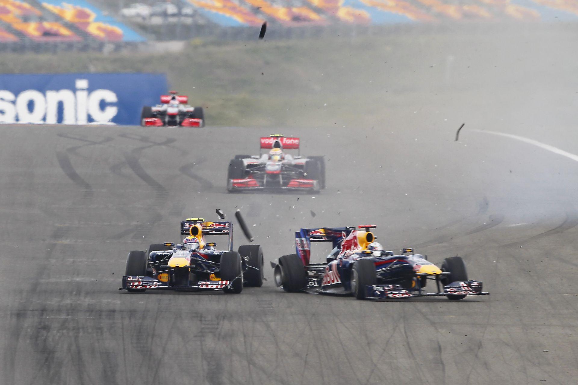 Webber és Vettel legendás ütközése Törökországban: majdnem megvolt a boksz kettejük között