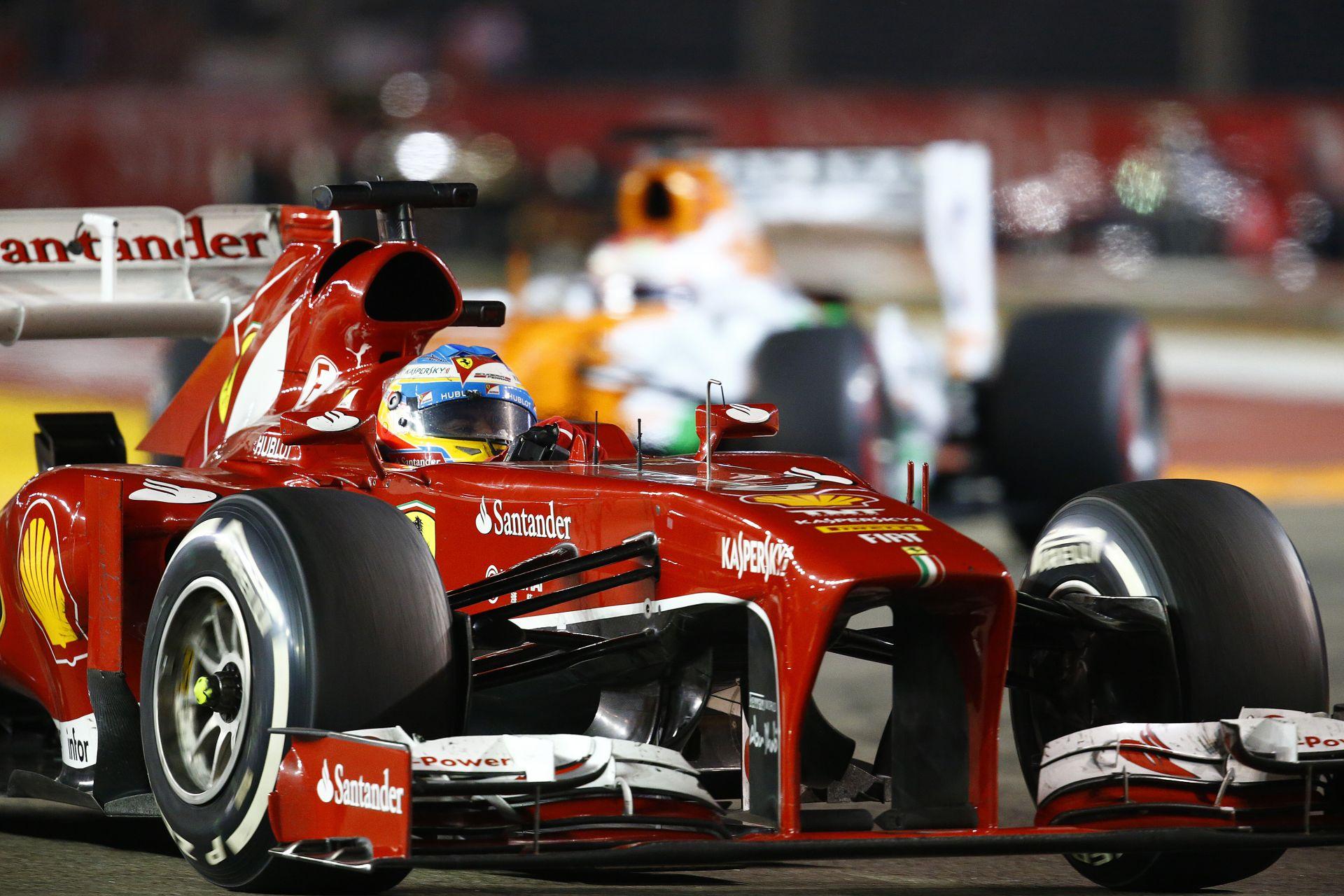 Alonso hihetetlen startja a 2013-as Szingapúri Nagydíjról