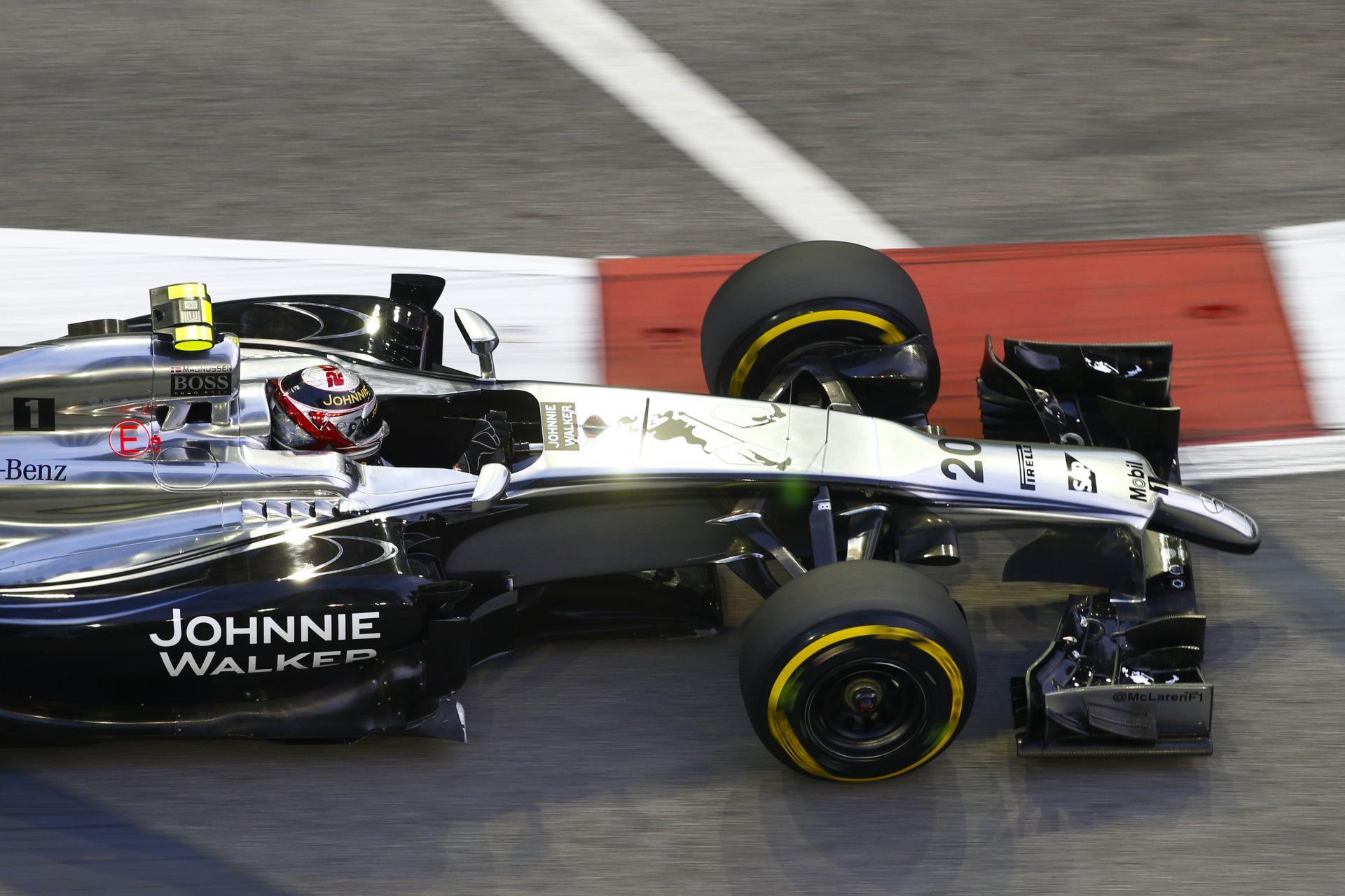 McLaren: Button még a Q3-ba sem jutott be, Magnussen 9. lett Szingapúrban
