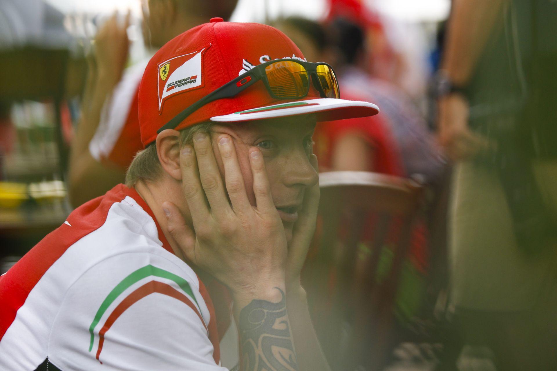 """Raikkönen csak 8. lett a Ferrarival Szingapúrban! Nem boldog a """"Jégember"""""""