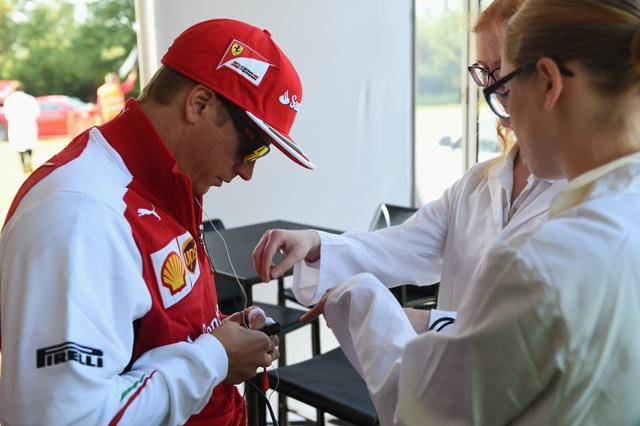 Alagútban való vezetéstől  gyorsult Kimi Räikkönen pulzusa a Shell Belga Nagydíj előtt