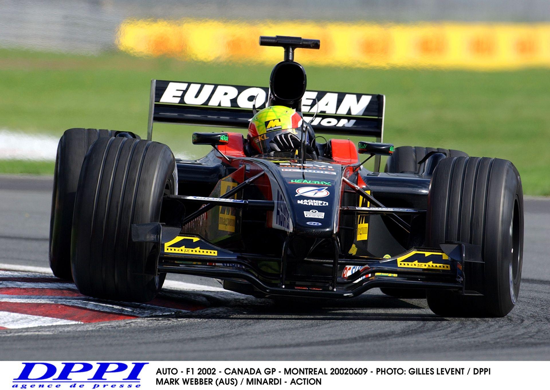 Kanadai Nagydíj 2002: Webber a Minardival Kanadában! Hangos!