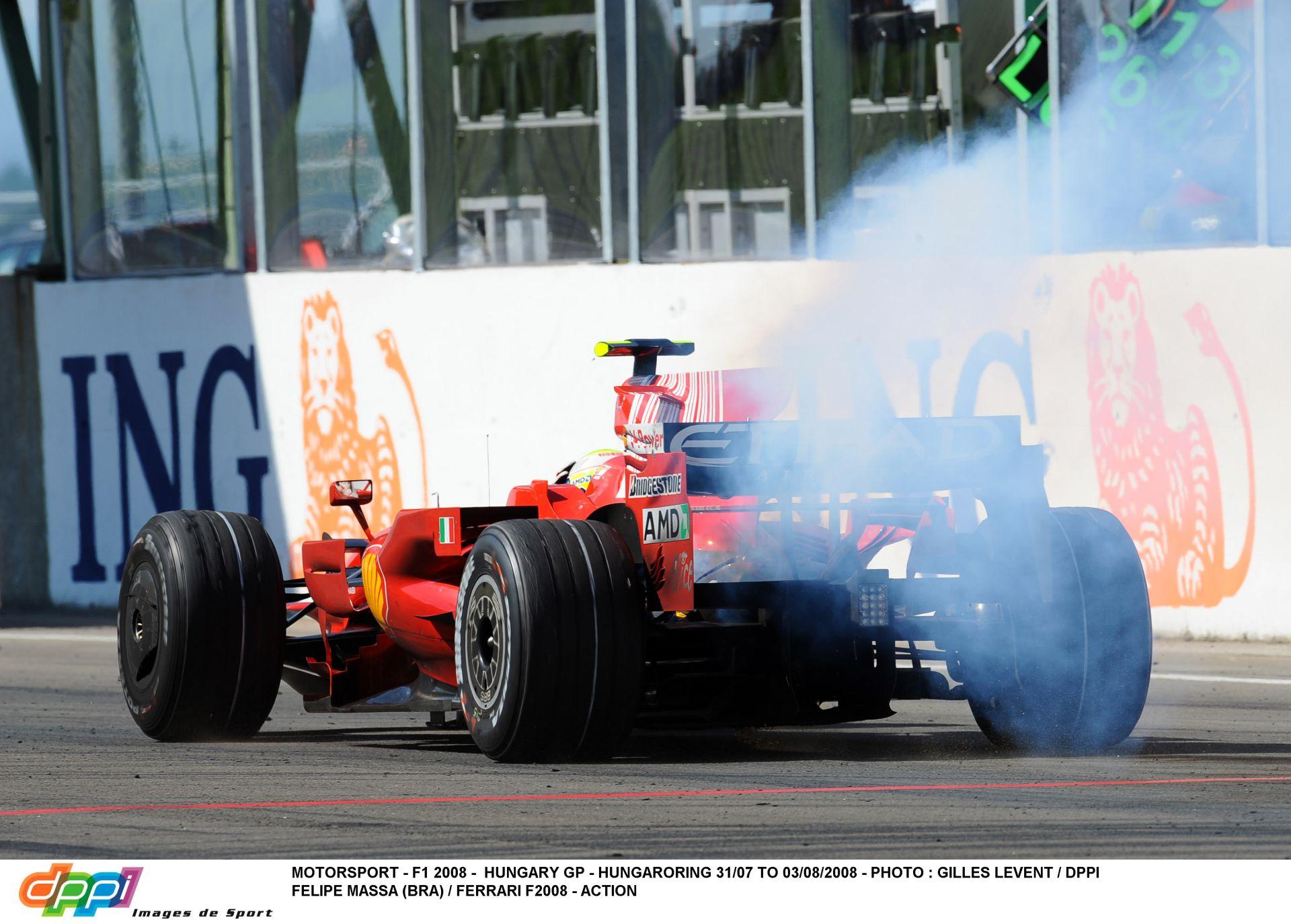 Massa nagy drámája a 2008-as Magyar Nagydíjon: Elszáll alatta a Ferrari