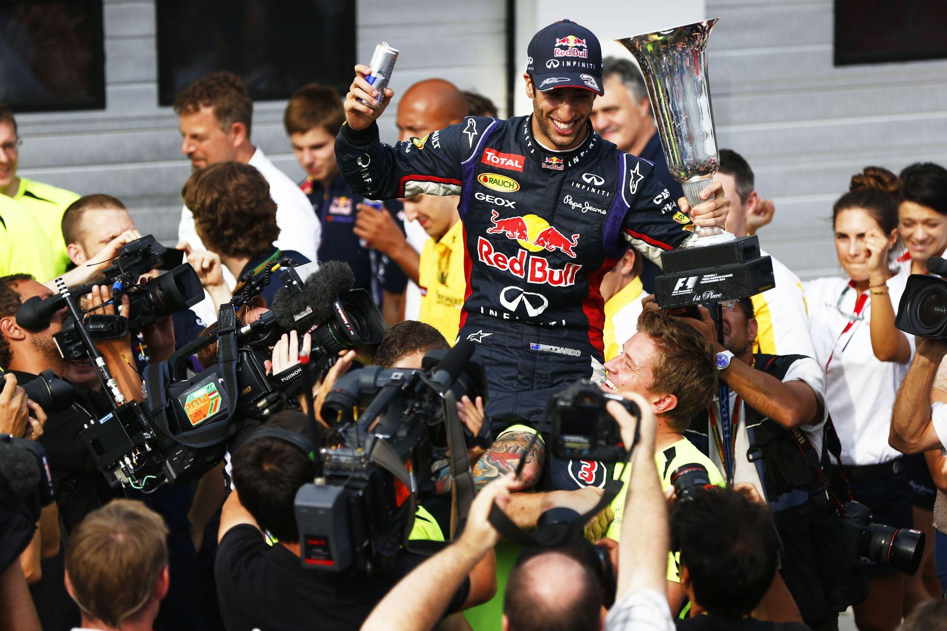 Ricciardo rádióüzenete a Magyar Nagydíjról: Megőrült az ausztrál a győzelme után