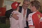 Egy újabb nagy jelenet Bahreinből: Baráti ölelés Kimivel! A legjobb ferraris csapatfőnök?