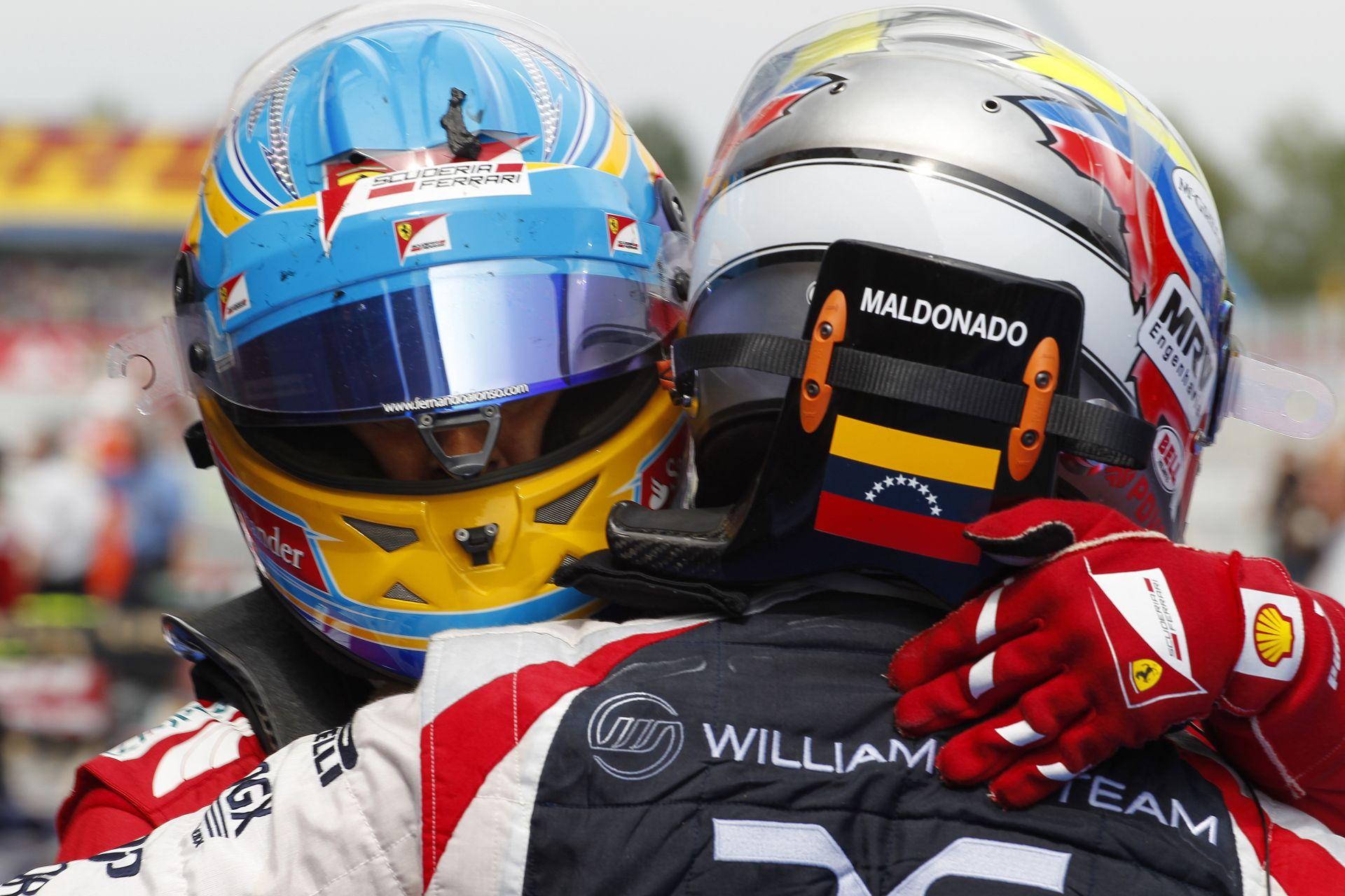 Maldonado büszke, hogy 2012-ben legyőzte Alonsót Barcelonában