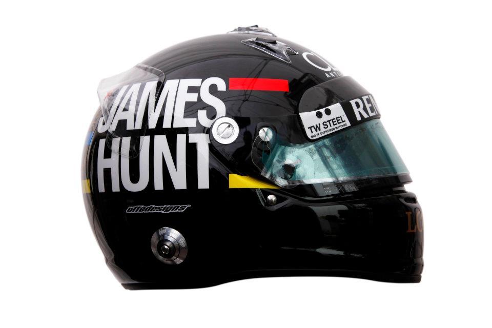 Raikkönen állat sisakfestése: James Hunt