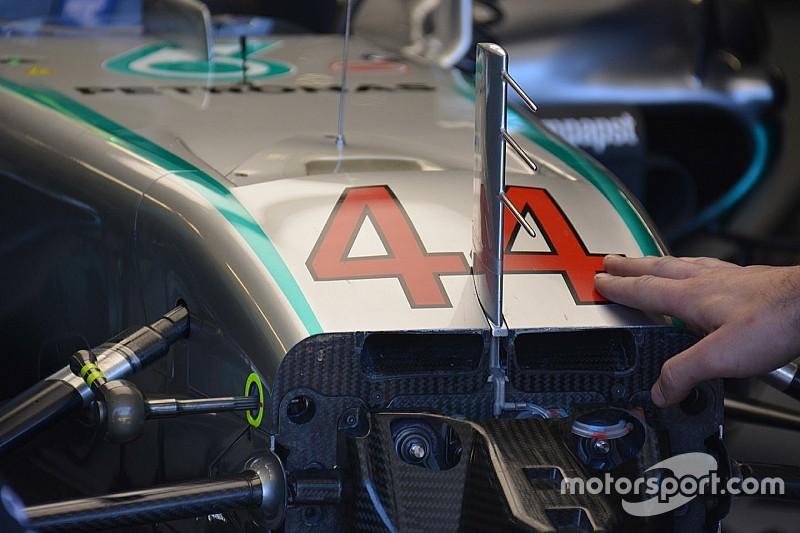 Breve análisis técnico: salida del Sduct del Mercedes W07