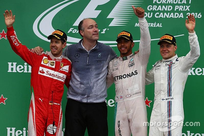 F1カナダGP決勝:ハミルトンがベッテルとの一騎打ちを制し連勝。フェラーリは戦略を過信!?
