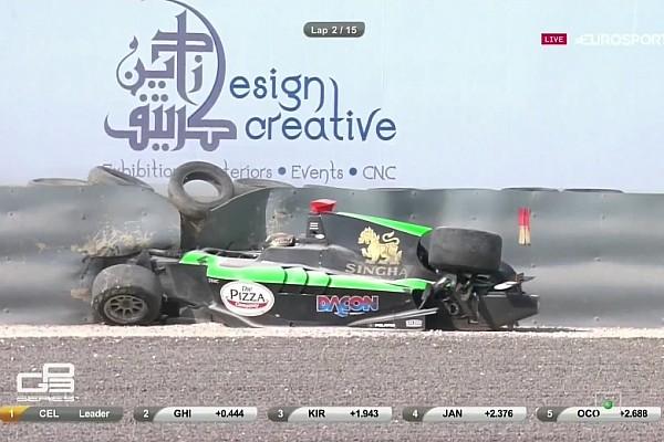 GP3 BRÉKING A GP3-ban sem maradt el a csattanás: Sandy Stuvik eléggé megtörte a gépet
