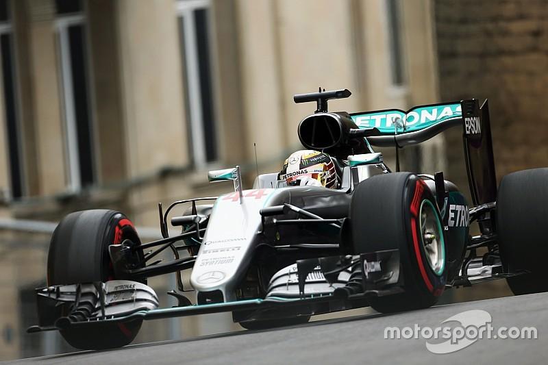 Formel 1 in Baku: Lewis Hamilton auch im zweiten Training vorne