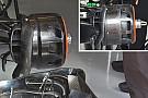 McLaren: modificato il disegno del cestello dei freni anteriore
