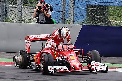"""Vettel après son crash : """"Pas de signe avant-coureur"""""""