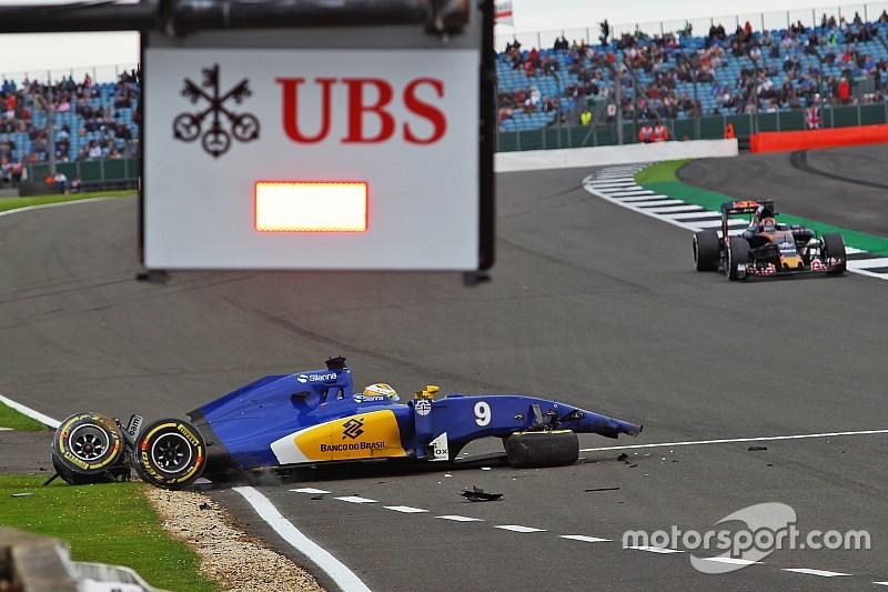 Formel 1 in Silverstone: Abbruch nach schwerem Unfall von Marcus Ericsson