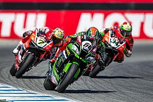 Superbike-WM Rennbericht Superbike-WM Laguna Seca: Tom Sykes gewinnt Dreikampf gegen Ducati-Duo