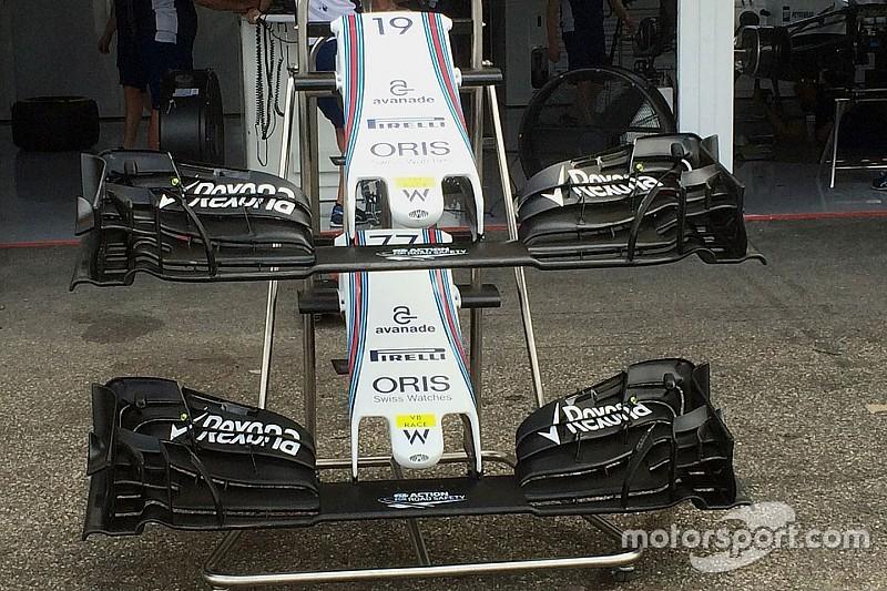 Breve análisis técnico: alerón delantero Williams FW38