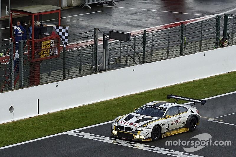 24 uur Spa: #99 BMW overtuigend naar zege ondanks knotsgek einde