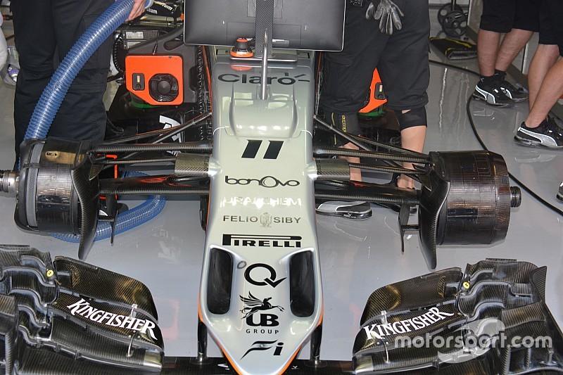 Технический брифинг: асимметричные передние тормоза Force India VJM09