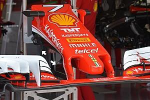F1 Análisis Técnica: soportes del ala delantero del Ferrari SF16-H en Japón