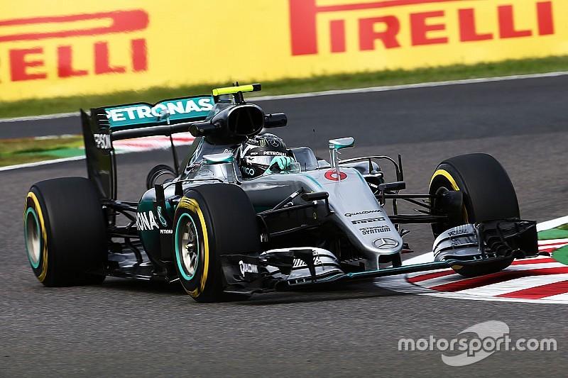 Rosberg leidt de dans op eerste dag in Japan, Verstappen naar vierde tijd
