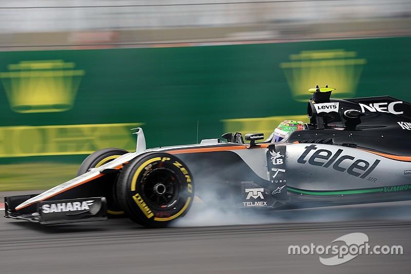 Un blocage de roue coûte la Q3 à Sergio Pérez